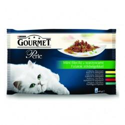 Purina Gourmet Perle Mini Fileciki z Warzywami - saszetka 4 x 85g
