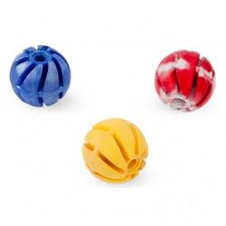 Piłka spiralna z pełnej gumy 4 cm - zabawka zapachowa dla psa