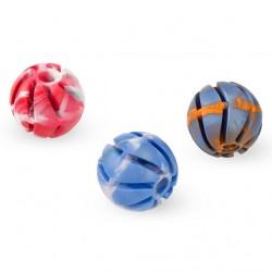 Piłka spiralna z pełnej gumy 6 cm - zabawka zapachowa dla psa