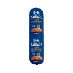 BRIT SAUSAGE BEEF & FISH - SPORT FORMULA - 800g