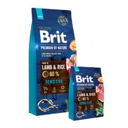 BRIT PREMIUM BY NATURE SENSITIVE LAMB Z JAGNIĘCINĄ I RYŻEM - 15kg