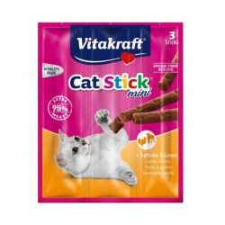 Vitakraft Cat Stick Mini mięsem indyka i baraniną - 3szt. kabanosiki dla kota