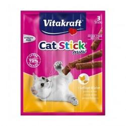 Vitakraft Cat Stick Mini drób i wątróbka - 3 szt. kabanosiki dla kota