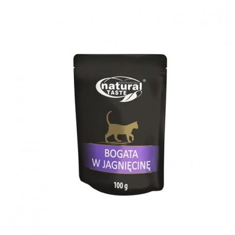 DOLINA NOTECI NATURAL TASTE CAT bogata w jagnięcinę 100 g