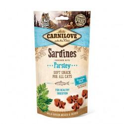 Carnilove Cat Snack Soft Sardines & Parsley - miękka przekąska z sardynkami i pietruszką - 50g