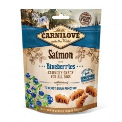 Carnilove Dog Snack Crunchy Salmon & Blueberries - chrupiąca przekąska z łososiem i jagodami - 200g