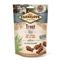 Carnilove Dog Snack Soft Trout & Dill - miękka przekąska z pstrągiem i koprem - 200g