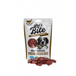 Brit Let's Bite Meat Snacks Venison & Chicken Dices 80g