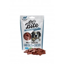 Brit Let's Bite Meat Snacks Lamb Dices with Chicken 80g