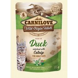 CARNILOVE CAT POUCH DUCK & CATNIP