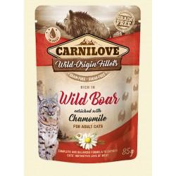 CARNILOVE CAT POUCH WILD BOAR & CHAMOMILE