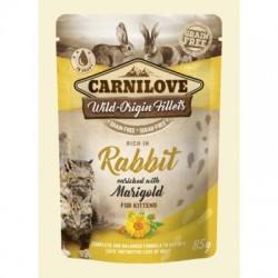 CARNILOVE CAT POUCH RABBIT & MARIGOLD KITTEN