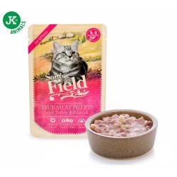 Sams Field Saszetka Mięso indyka z brokułą dla kociąt 85g