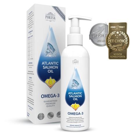 Pokusa Atlantic Salmon Oil - olej z łososia dla psów i kotów 300ml