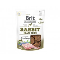 Brit - Jerky Snack Rabbit Meaty coins 80g